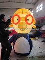 2 m inflável promocional dos desenhos animados do pinguim