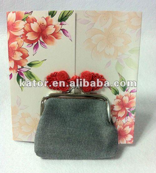 Cotton light black lady purse