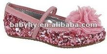 2012 new fashion design popular leather girls model rubber sole shoe BH-CS013E