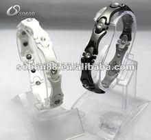 silicone sport titanium health wristbands