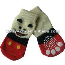 UW-PSK-310 Dog foot shape socks for dog shoes wearing with soft nylon