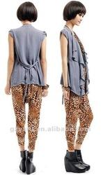 lady pants and blouse of skinny leg elastic