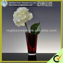 Delicate Solid Brown Crystal Vases
