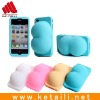 hip shape silicone phone case for iphone 4