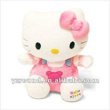 cute hello kitty pink doll plush toy stuffed animal