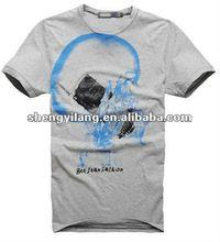 2012 trendy design 95% cotton 5% spandex men t shirts