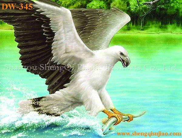Dw345 3d lenticular decoração home imagem de aguia