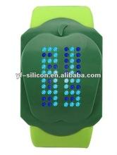 Silicone iron samurai led watch
