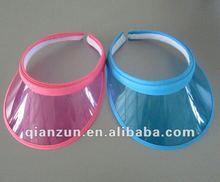 2012 new design wide peak children plastic sun visor cap