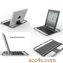 Aluminum Bluetooth Keyboard Protector Case For the new iPad 3 P-iPAD3HCKBSO001