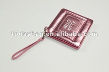 Personalized Leather Handbag Mirror with Straps Stamping logo YBS-HZJ011