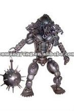 metal mini robot sculpture
