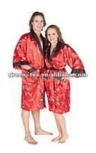 Promocionais de cetim quimono roupão/ lounge roupões