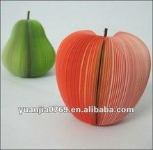 2012 apple & pear shape sticky memo cubic