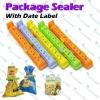 Date Label Food Storage Bag Sealing Clips Sealer