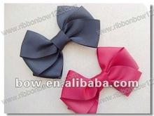 Grosgrain Ribbon Hair Bows with a pinch clock