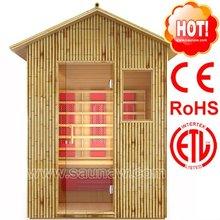 3 Person Outdoor Bamboo Infrared Sauna