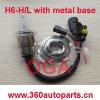 H6-H/L HID moto Bi xenon with metal base bulbs 3000k,4300k,6000k,8000k,12000k