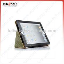 Diamond pu leather case for new ipad ipad3 ipad2