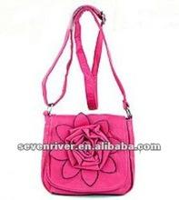 Lady fashion handbag/shoulder bag with flower design