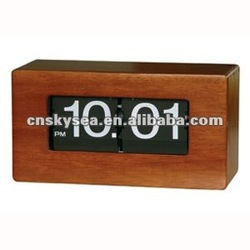 Wood Box Flip Clock