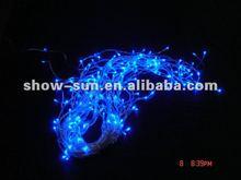 480 LED Flashing Icicle Blue Christmas Lights