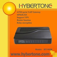 4 FXS Ports VOIP adapter, SIP&H323, supported vpn