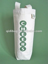 Recycled Cotton Canvas Wine Tote Bag