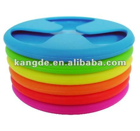 Silicone Grip Coaster Wine Charms