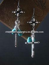 2012 New Style Vintage Cross Earrings