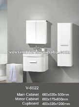 2012 hot selling shiny white cabinet set,high gloss white vanity unit,bathroom mirror cabinet,round corner cabinet