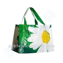 2012 hot sale recycle woven plastic beach bag