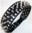 Plain PU leather fashion pet collar with rhinstones and decoration