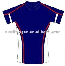 2012 hotest selling custom sublimation men hight quality badminton wear