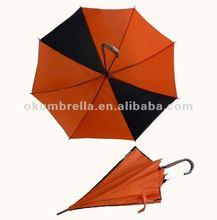 Curve handle orange golf umbrella