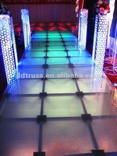 Reusable aluminum Stage with glass or plywood for events