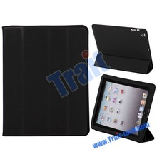 Factory Price!! Sleep Function Magnetic Stand PU Leather smart cover for New iPad 3 (many in stock)