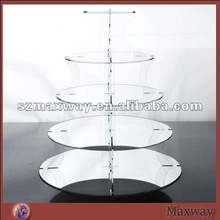 Circle Dismountable 5-Tier Acrylic/Plexiglass Cake/Bakery Display Holder