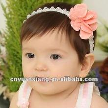 100% Hand crochet baby headband with flower(YXH1244)