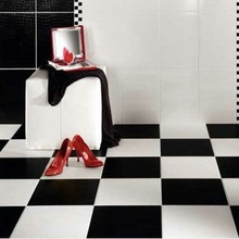 Black ceramic tiles 40x40 LJ402