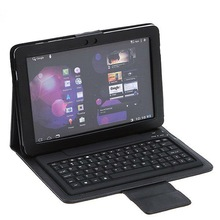 Silicon Wireless Bluetooth Keyboard Leather case for Samsung Galaxy Tab 10.1 P7510 P7500