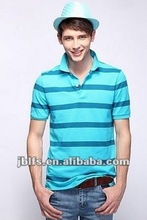 2012 popular mens polo collar striped t shirt