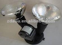 Twin lamp with sensor