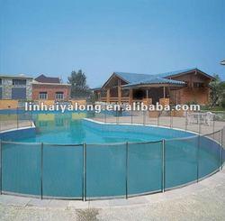 Powder coated aluminum pool fence