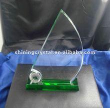 2012 new design blank crystal trophy