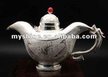 2012 most popular decorative silver tea pot set