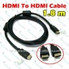 New 6 Ft Premium HDMI To 24K Gold Cable For HDTV DVD LCD