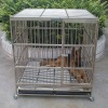 folding metal mesh dog cage with wheels