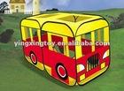 fun large kid playing bus tent