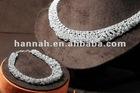 Knitting necklace and bracelet